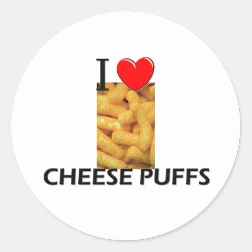 I Love Cheese Puffs Round Sticker