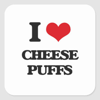 I Love Cheese Puffs Sticker
