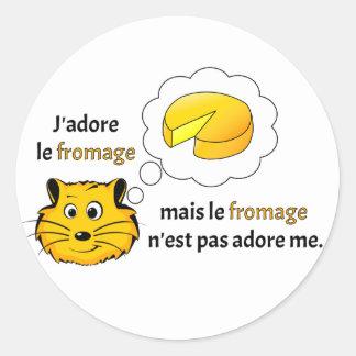 I love cheese round sticker