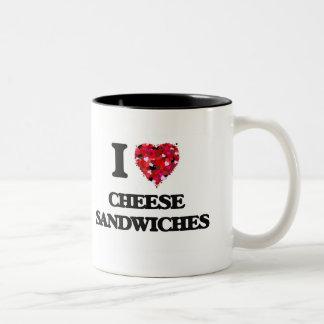 I love Cheese Sandwiches Two-Tone Mug