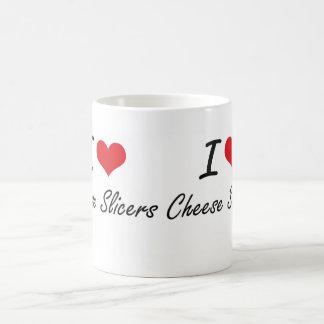 I love Cheese Slicers Artistic Design Basic White Mug