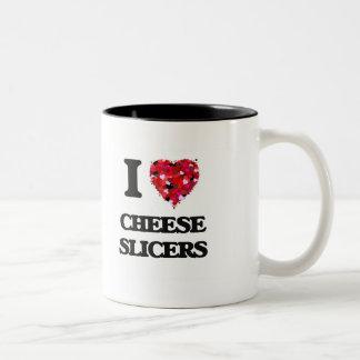 I love Cheese Slicers Two-Tone Mug