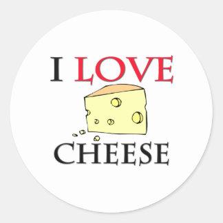 I Love Cheese Classic Round Sticker