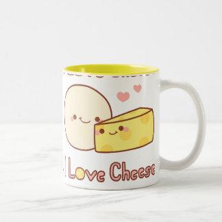 I Love Cheese Two-Tone Coffee Mug