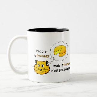 I love cheese Two-Tone mug