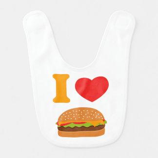 I Love Cheeseburgers Baby Bibs
