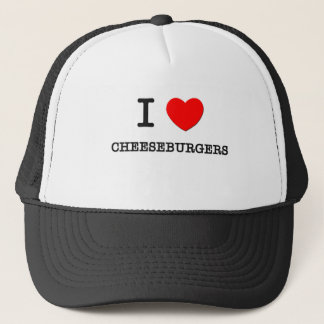 I Love Cheeseburgers Trucker Hat