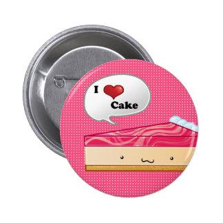 I love Cheesecake 2 Inch Round Button