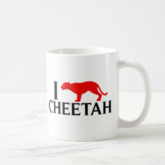 I Love Cheetah Coffee Mug