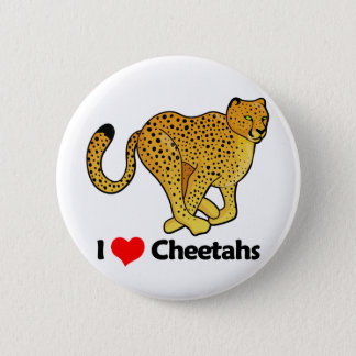 I Love Cheetahs 2 Inch Round Button