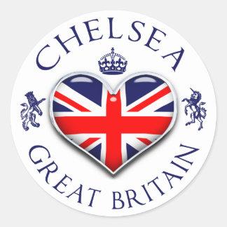 I Love Chelsea Classic Round Sticker