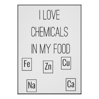 I Love Chemicals In My Food Poster