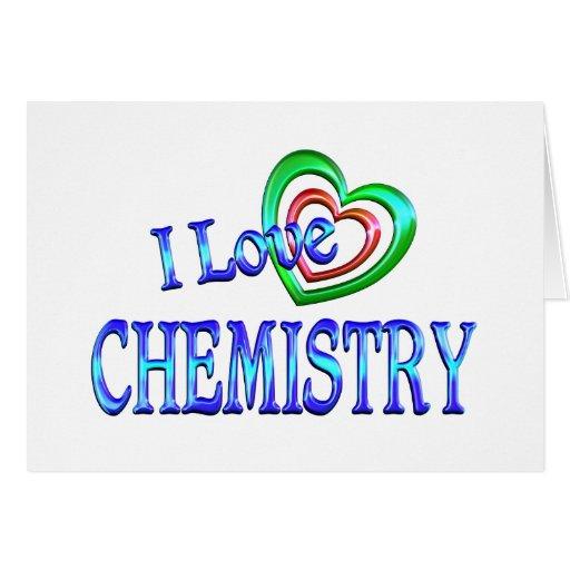 I Love Chemistry Card