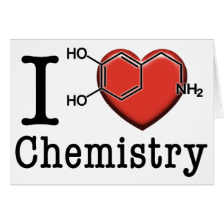 I Love Chemistry Card