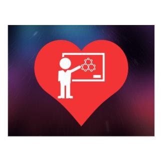 I Love Chemistry Teachers Design Postcard