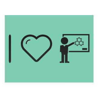 I Love Chemistry Teachers Postcard