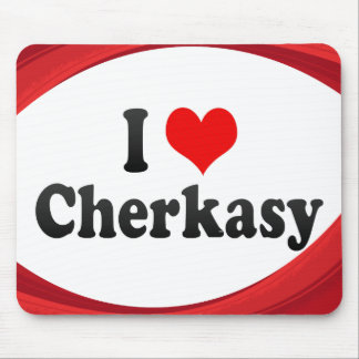 I Love Cherkasy, Ukraine Mouse Pads