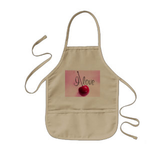 I love cherry! kids apron