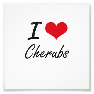 I love Cherubs Artistic Design Photograph