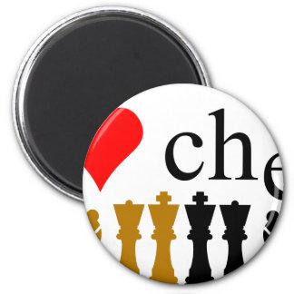 I love Chess 2 Inch Round Magnet
