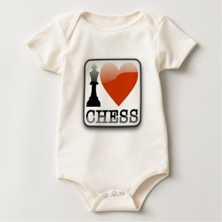 I Love Chess Baby Bodysuit