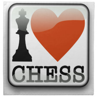 I Love Chess Napkin
