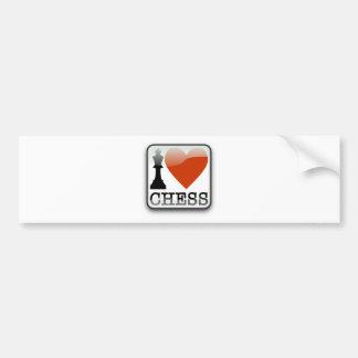 I Love Chess Sign Bumper Sticker