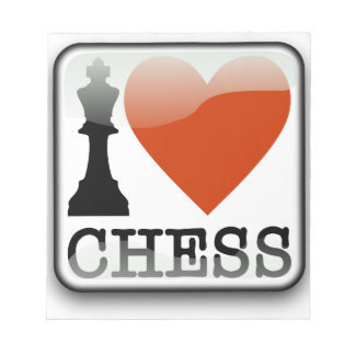I Love Chess Sign Notepad