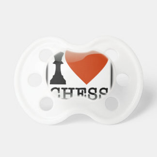 I Love Chess Sign Pacifier