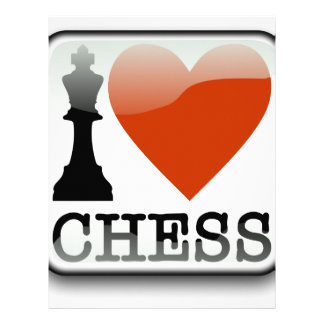 I Love Chess Sign Personalized Letterhead