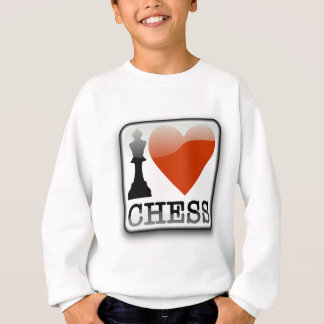 I Love Chess Sign Sweatshirt