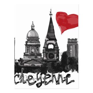 I love Cheyenne Postcard