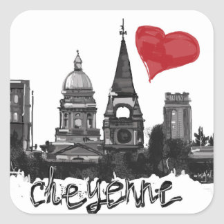 I love Cheyenne Square Sticker