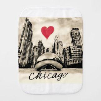 I love Chicago Baby Burp Cloth
