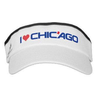 I Love Chic'ago Custom Knit Visor, White Visor