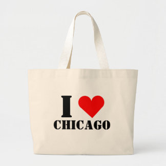 I Love Chicago Heart Jumbo Tote