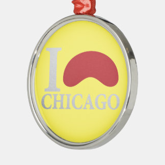 I LOVE CHICAGO METAL ORNAMENT