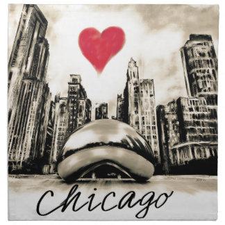 I love Chicago Napkin