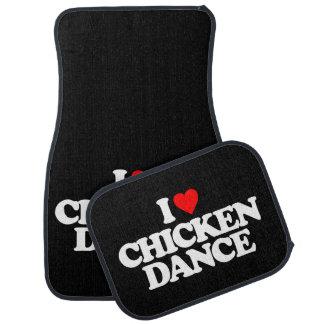 I LOVE CHICKEN DANCE CAR MAT