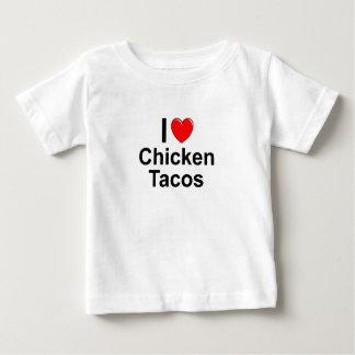 I Love Chicken Tacos Baby T-Shirt
