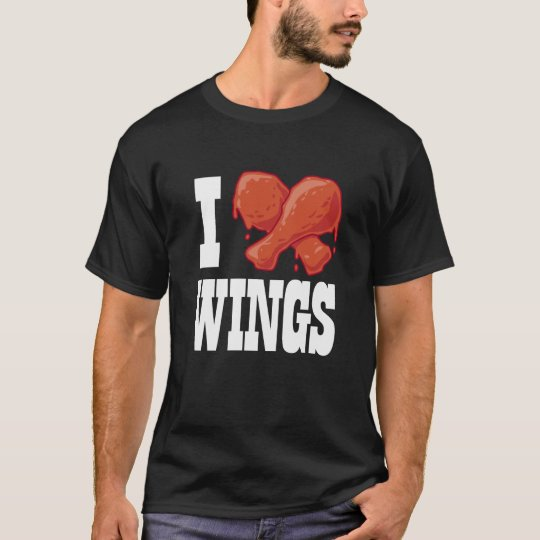 I Love Chicken Wings T-Shirt