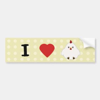 I Love Chickens Bumper Sticker