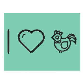 I Love Chickens Postcard