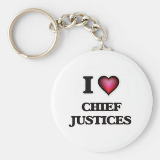 I love Chief Justices Basic Round Button Keychain