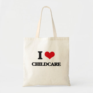 I love Childcare Tote Bag