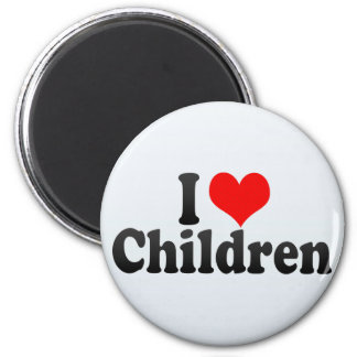 I Love Children 2 Inch Round Magnet