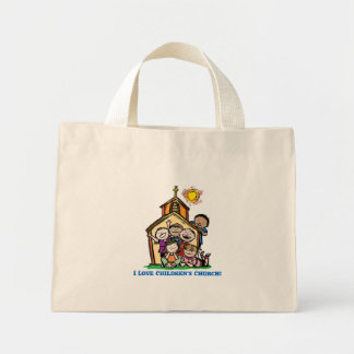 I Love Children's Church! Mini Tote Bag