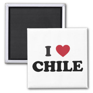 I Love Chile Square Magnet