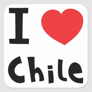 I love chile square sticker