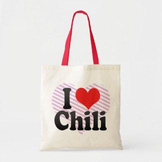 I Love Chili Canvas Bag